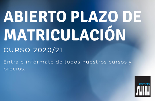 ABIERTO EL PLAZO DE MATRICULACIÓN-2